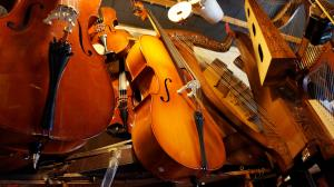 cellos and violins