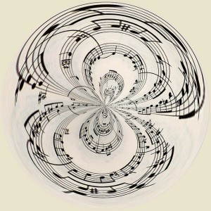 sheet music arranged so it looks circular - infinite