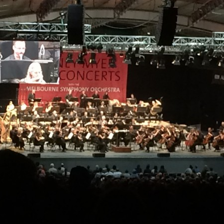 Melbourne Symphony Orchestra playing