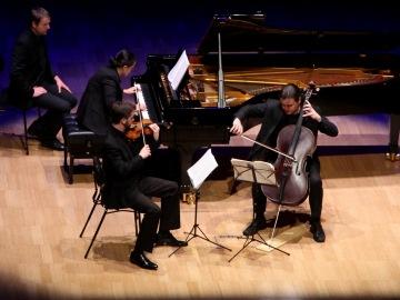 piano trio, a violinist, cellist and pianist