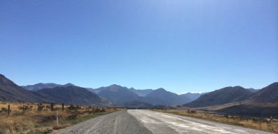 The road through Arthurs Pass, New Zealand
