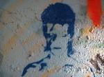David Bowie's face as street art