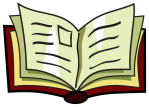 drawing of open book