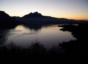 Lake Lucerne at twilight
