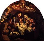 joseph, mary and baby jesus painting